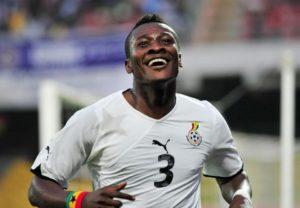 Asamoah Gyan conteste le record de Cristiano Ronaldo. AFP