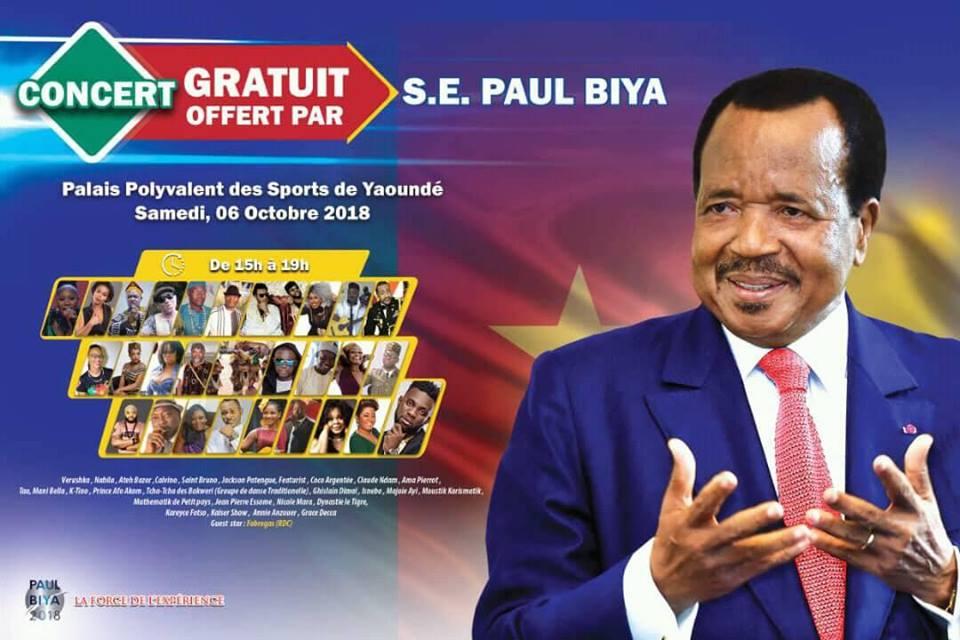 le 06.10.18 Paul Biya au Paposy