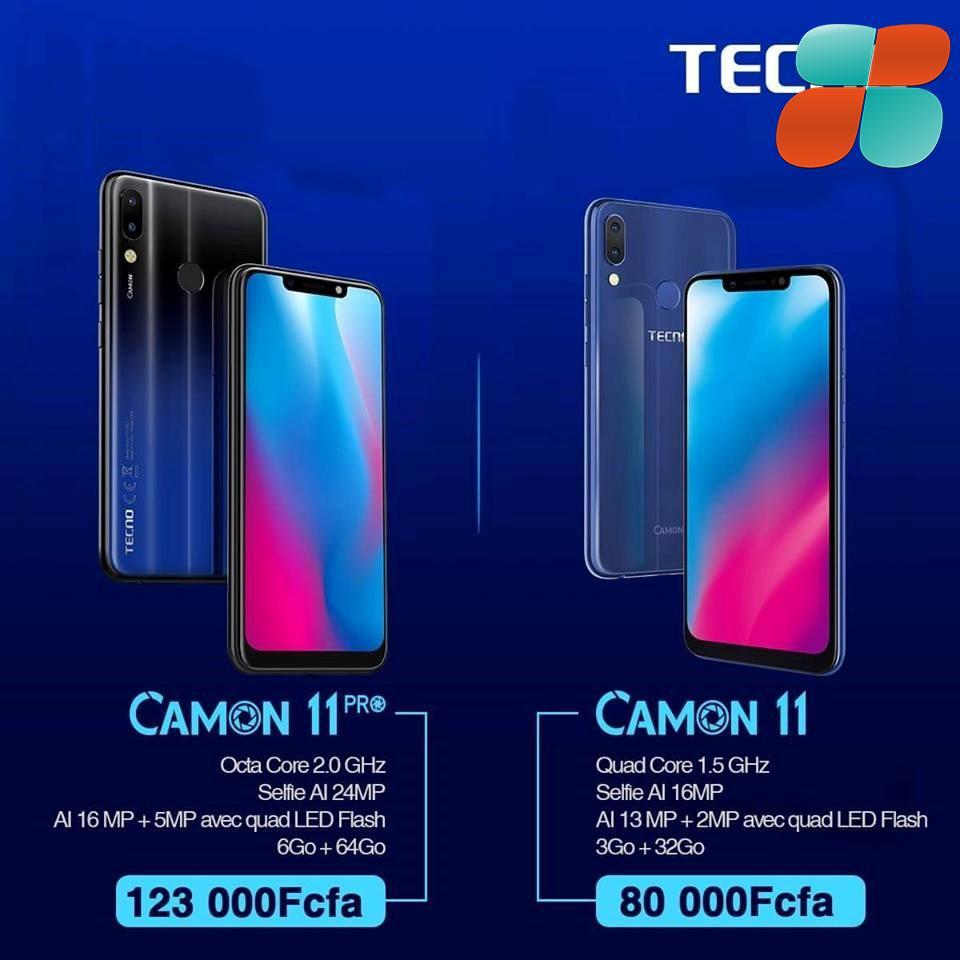 """Tecno Mobile revient en force avec le nouveau """"Camon 11"""" et camon 11 pro"""
