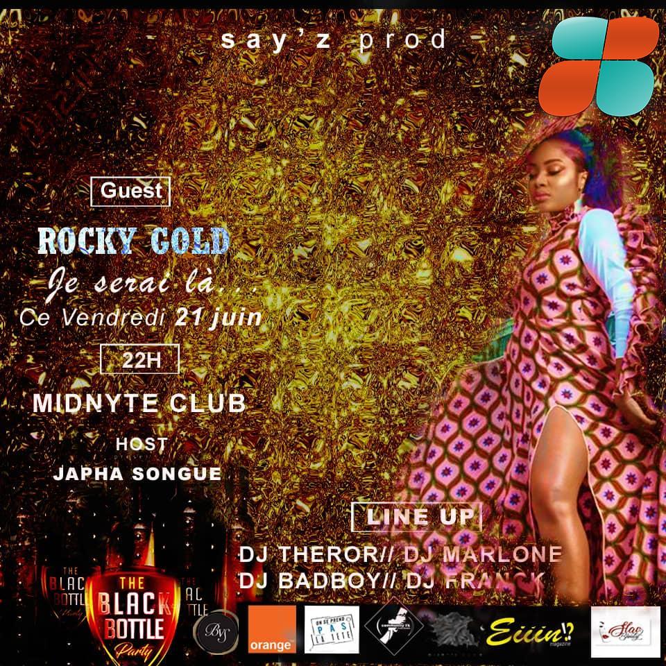 L'Ivorienne Rocky Gold célèbre la Fête de la Musique au Cameroun pendant le BLACK BOTTLE