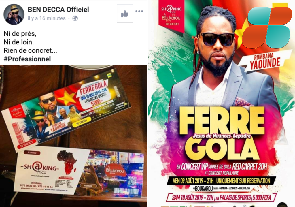Ben Decca refuserait de faire la première partie de Ferre Gola