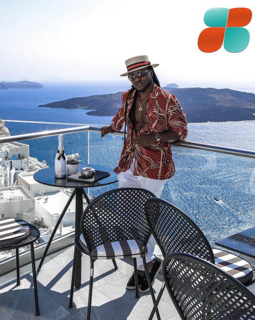 L'influencer de mode, Manlikeclix passe un bon temps en Grèce